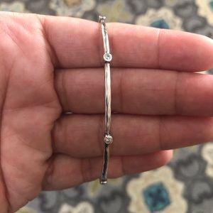 .925 Sterling Silver Silpada bracelet with CZ's